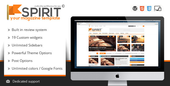 Spirit - Responsive WordPress Magazine Theme - Blog / Magazine WordPress