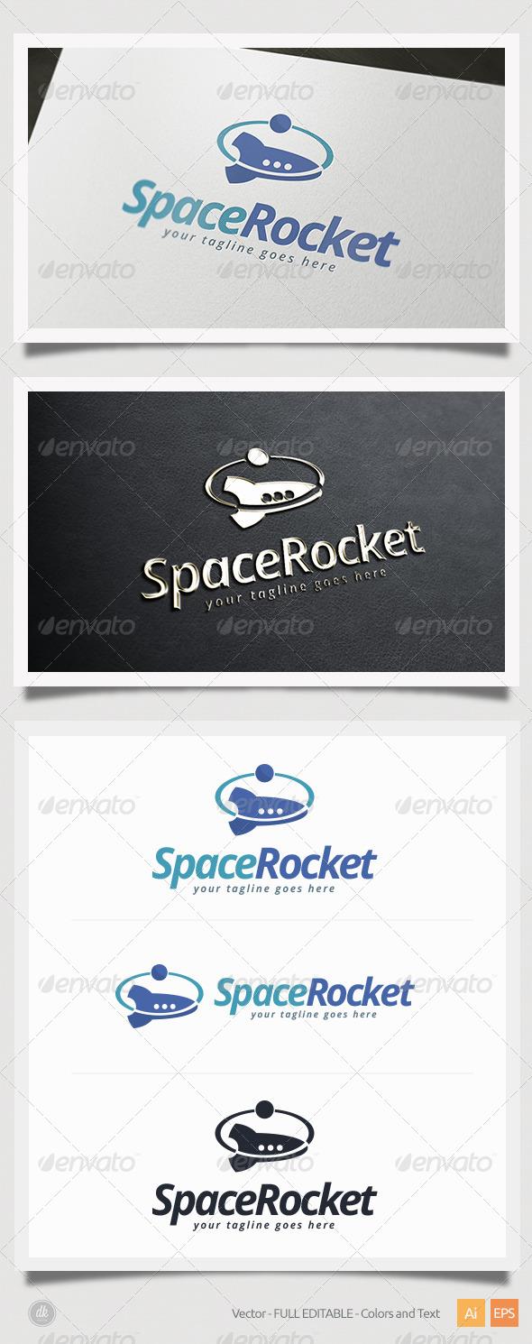 GraphicRiver Space Rocket Logo 5427078
