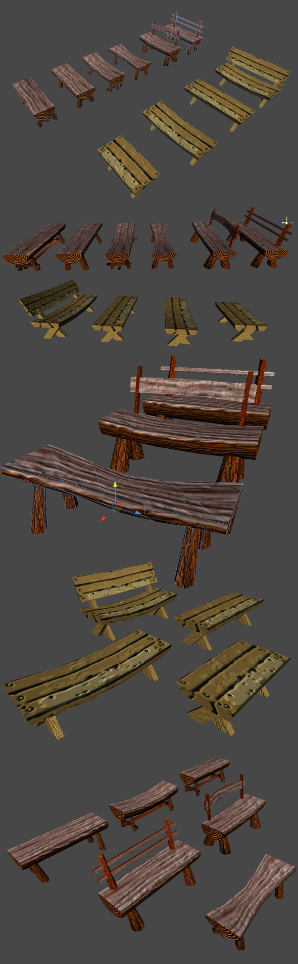 Benches - 3DOcean Item for Sale