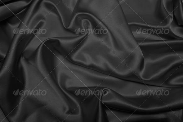 Black Satin - Stock Photo - Images