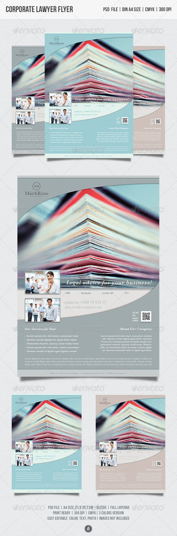 GraphicRiver Corporate Lawyer Flyer 5429302