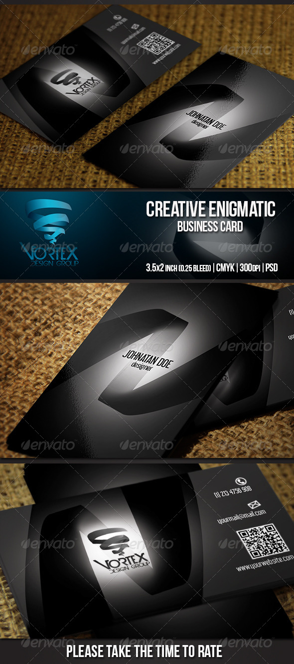 GraphicRiver Creative Enigmatic Business Card 5429395