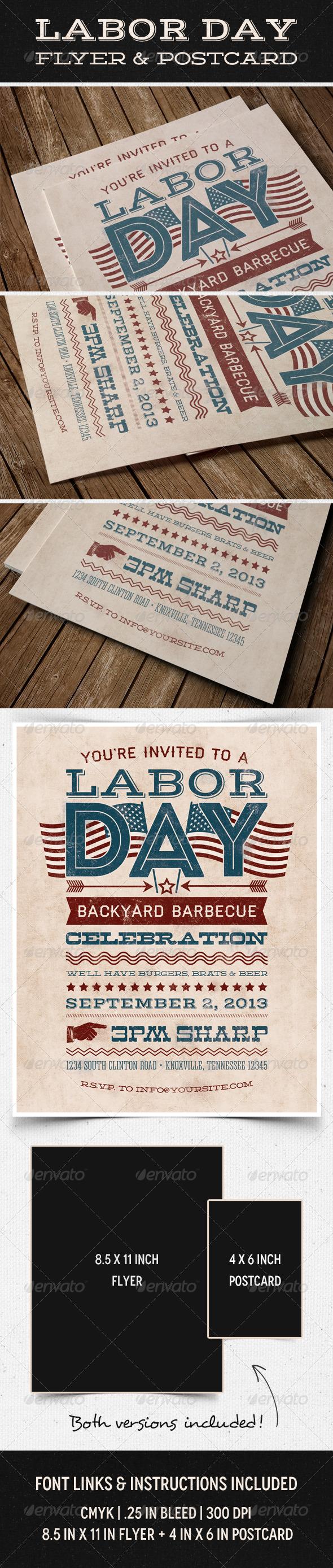 Labor Day Flyer & Postcard
