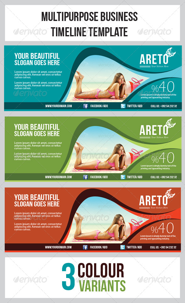 GraphicRiver Multipurpose Banner Timeline Template 5429425