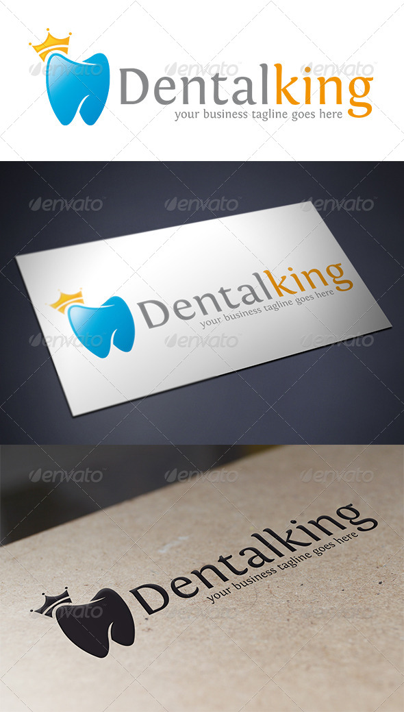 GraphicRiver Dental King Logo Template 5429856