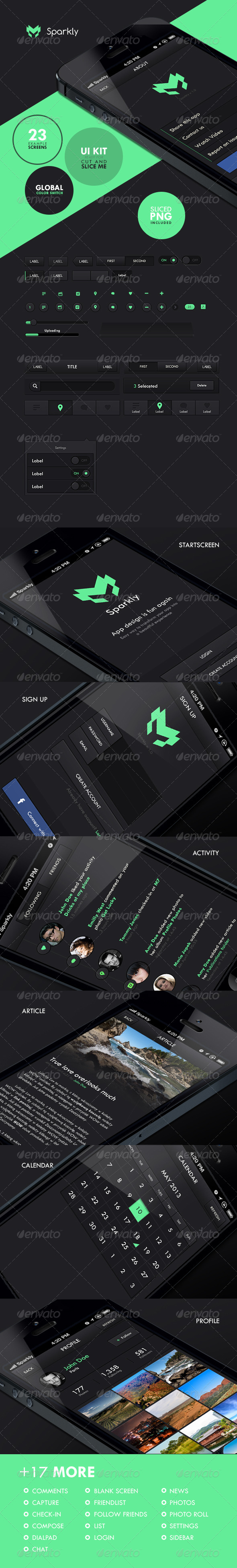 GraphicRiver Sparkly iOS UI Set 5417276