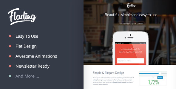 ThemeForest Flading An Easy To Use Responsive Landing Page 5430049