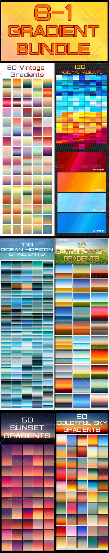 GraphicRiver 6-1 Gradients Bundle 5430104