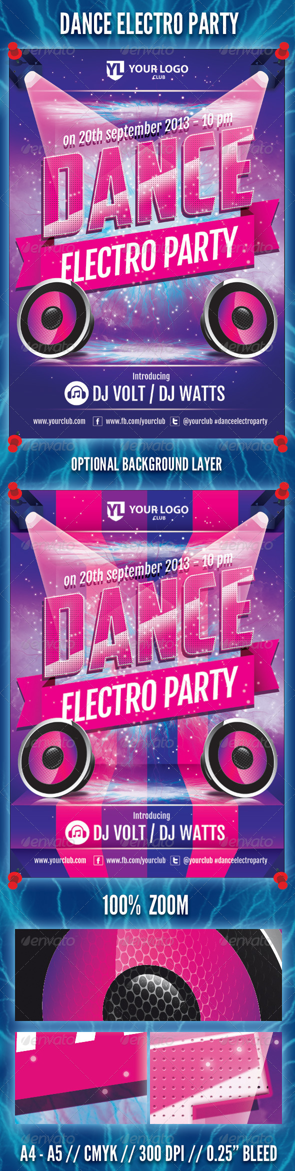 GraphicRiver Dance Electro Party Flyer 5430153