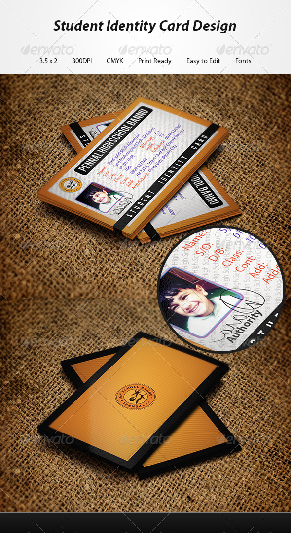 GraphicRiver Student Identity Card 5410848