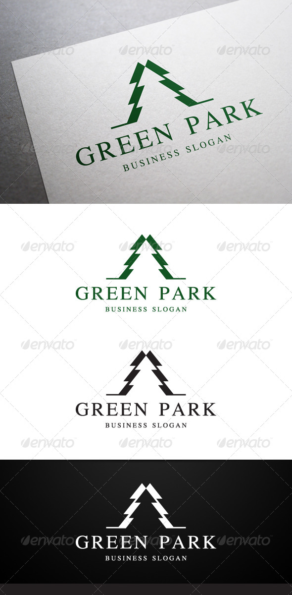 GraphicRiver Green Park Logo 5430308