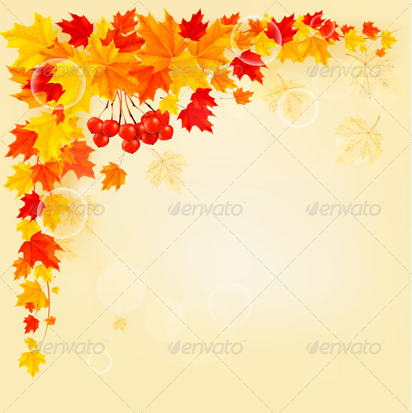 GraphicRiver Autumn Background with Colorful Leaves 5430350
