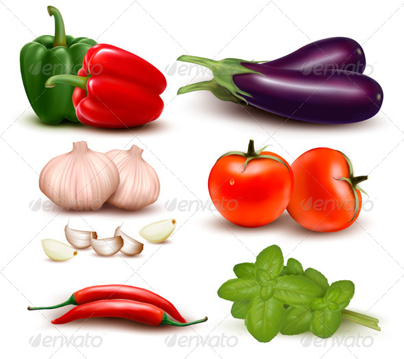 GraphicRiver Colorful Group of Vegetables 5430529