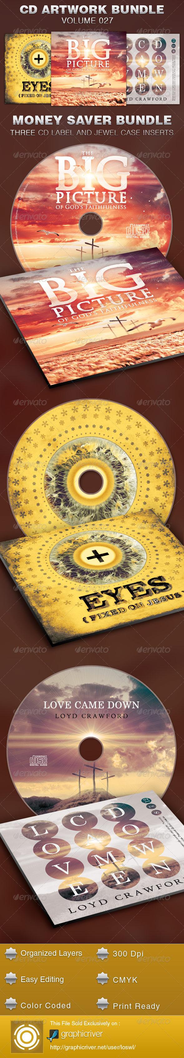 CD Cover Artwork Template Bundle-Vol 027
