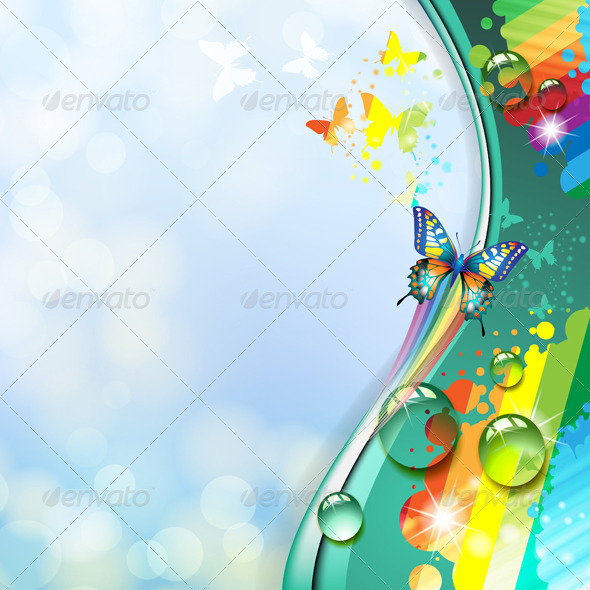GraphicRiver Background with Butterfly 5430822