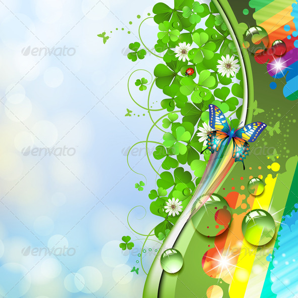 GraphicRiver Butterfly and Clover 5430825