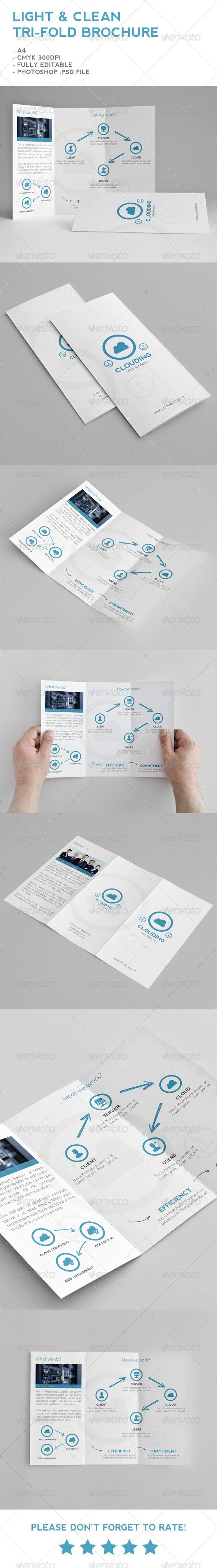 GraphicRiver Light & Clean Tri-Fold Brochure 5430973