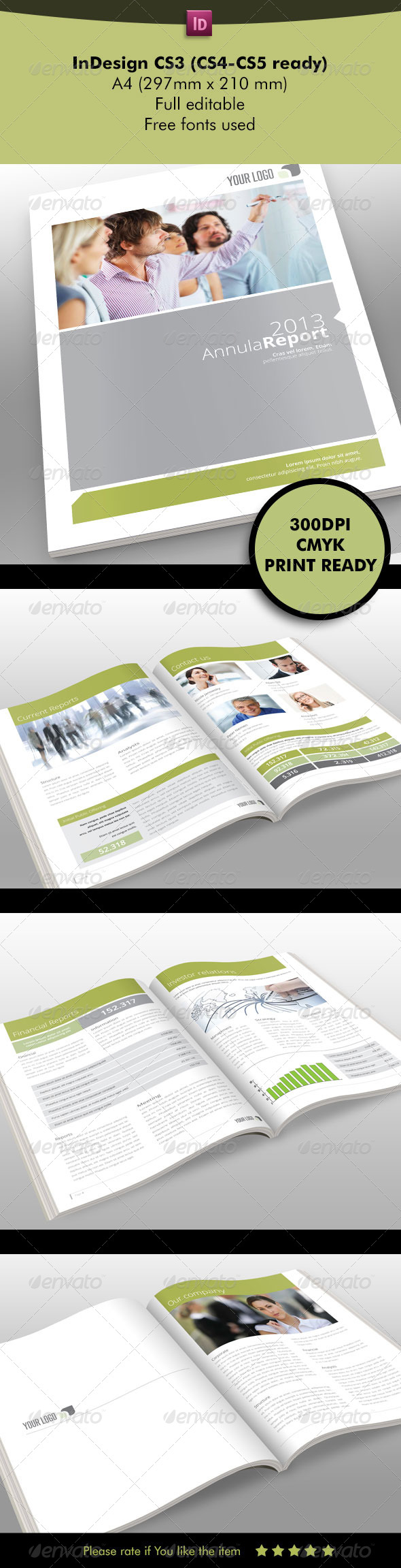 GraphicRiver Annual Report Template 5431110
