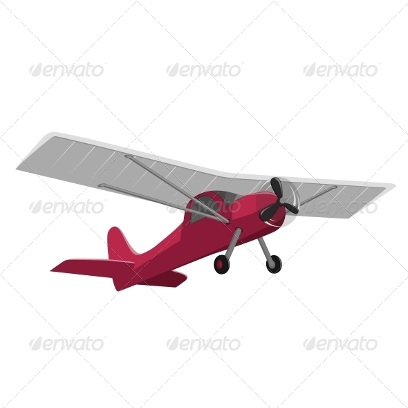 GraphicRiver Red Airplane Isolated on White Background 5431112