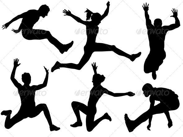 GraphicRiver Long Jump Silhouette 5431541