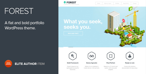 Forest - A flat and Bold portfolio Wordpress theme