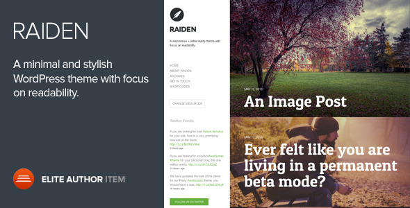 Raiden - A Minimal WordPress Theme with Style - Blog / Magazine WordPress