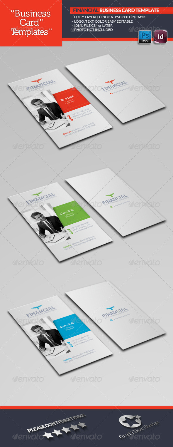 GraphicRiver Financial Business Card Template 5431846