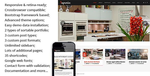 ThemeForest Impressive Interior Responsive Wordpress Theme 5292202