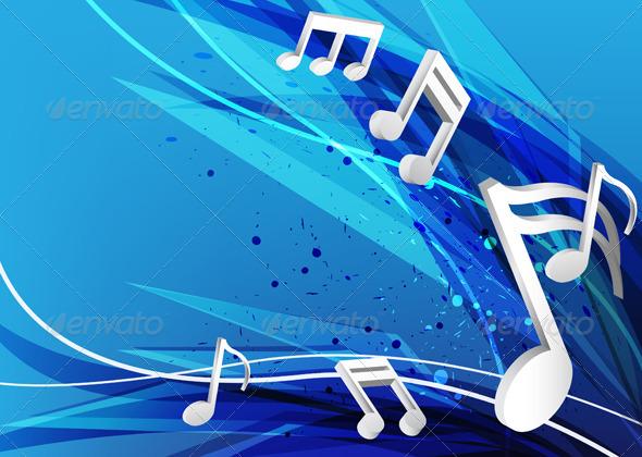 GraphicRiver Blue Music Design Background 5432327