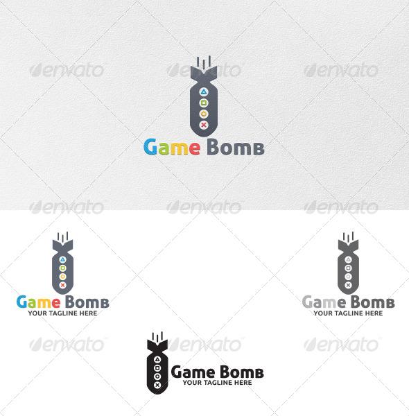 GraphicRiver Game Bomb Logo Template 5432601