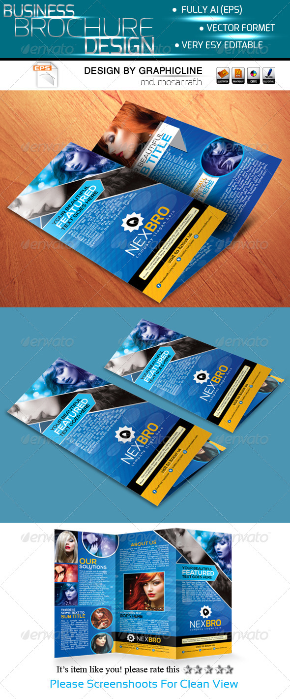 GraphicRiver Nex Bro-Tri-fold Corporate Business Brochure 5433031