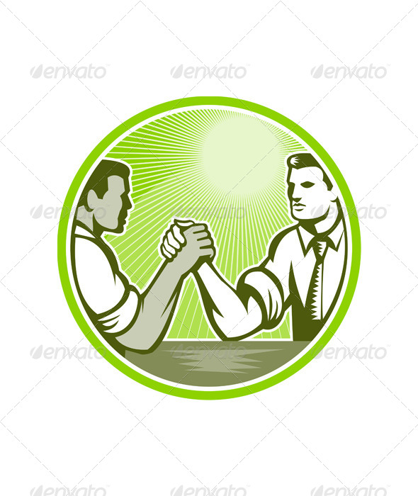 GraphicRiver Businessman Office Worker Arm Wrestling 5433042
