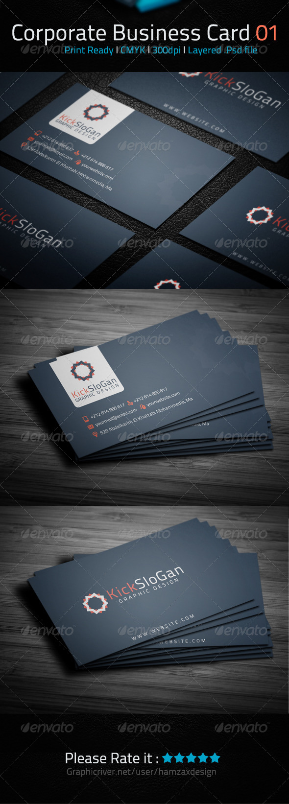 Corporate Business Card 01 - Corporate Business Cards