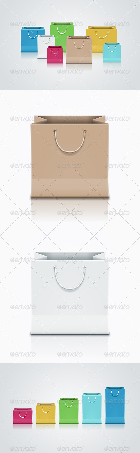 Paper Bag Set - Man-made Objects Objects
