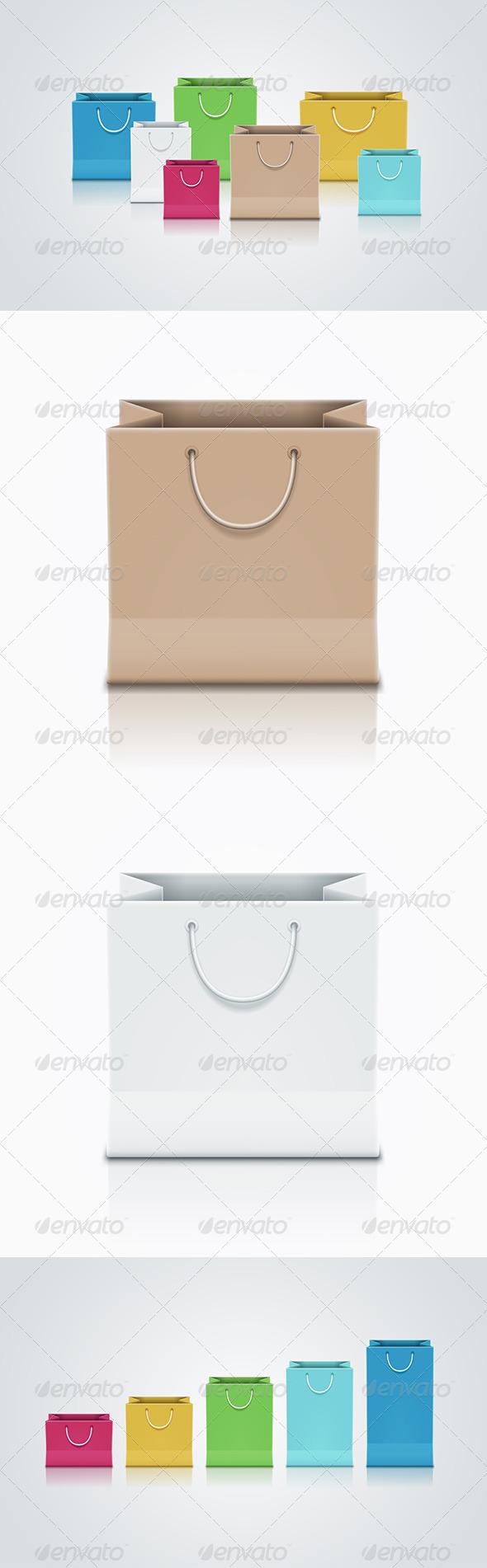 GraphicRiver Paper Bag Set 5433522