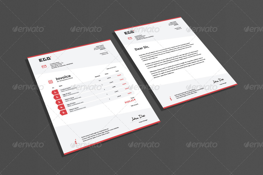 Bundle 4 Invoice & Letter Templates