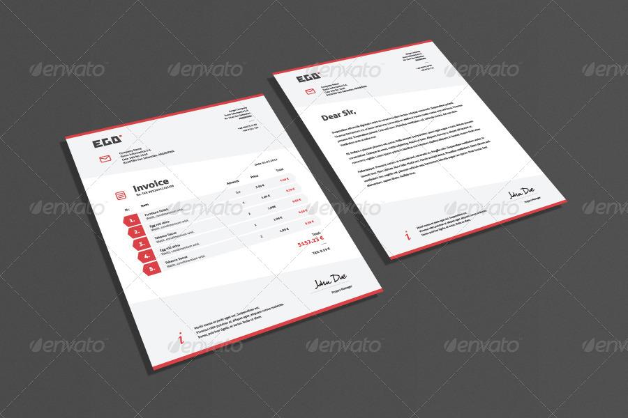 Bundle 4 Invoice & Letter Templates