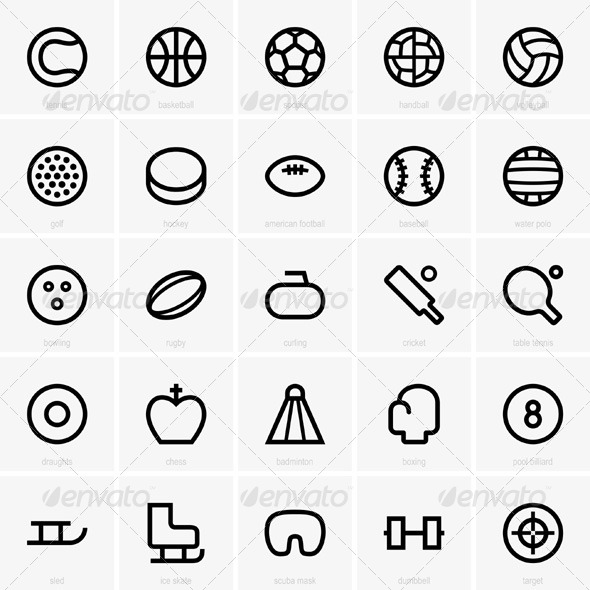 GraphicRiver Sport Icons 5433717