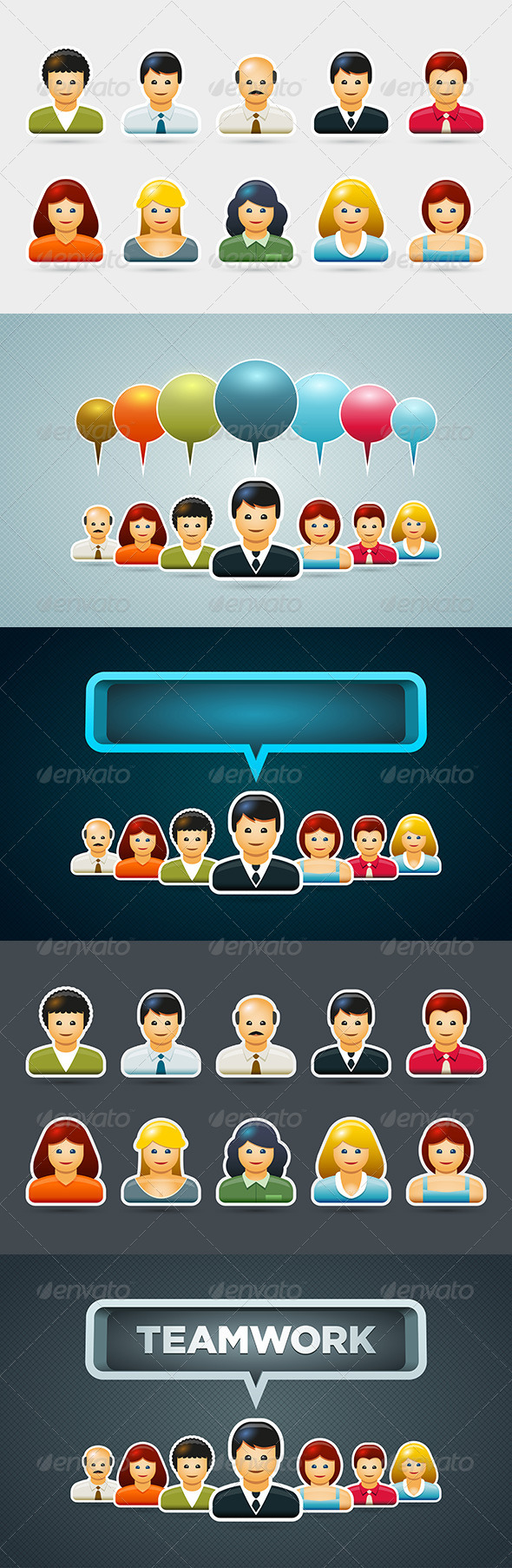GraphicRiver Business People Icon Set 5433739