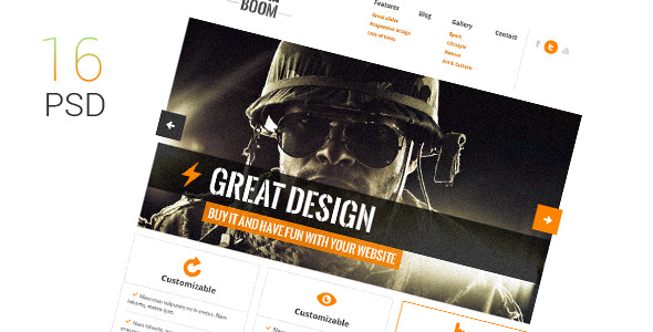 BigBoom - Clean & Powerful PSD Template