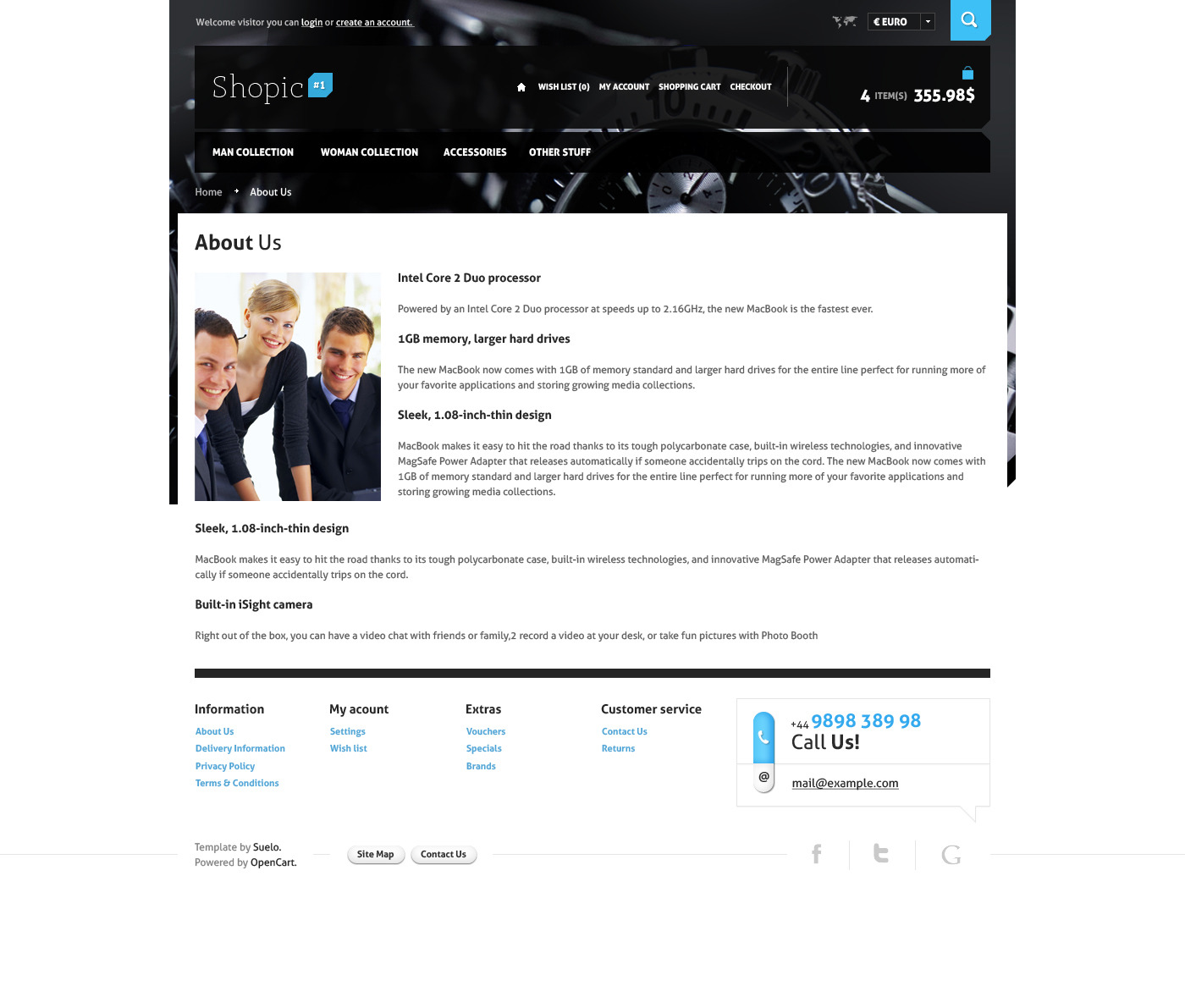 Shopic#1 - OpenCart PSD Template