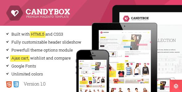 ThemeForest Candybox Responsive & Retina Ready Magento Theme 5434265