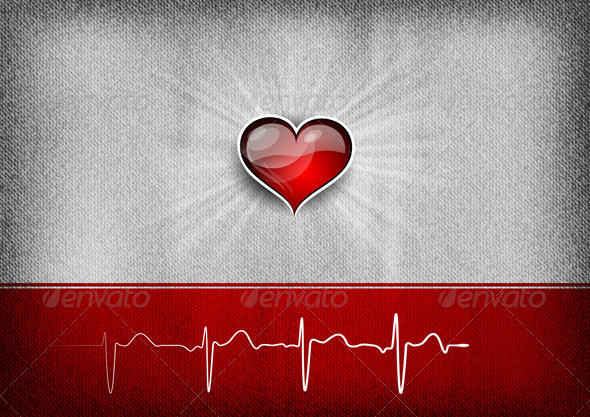 GraphicRiver Heart Background 5434302