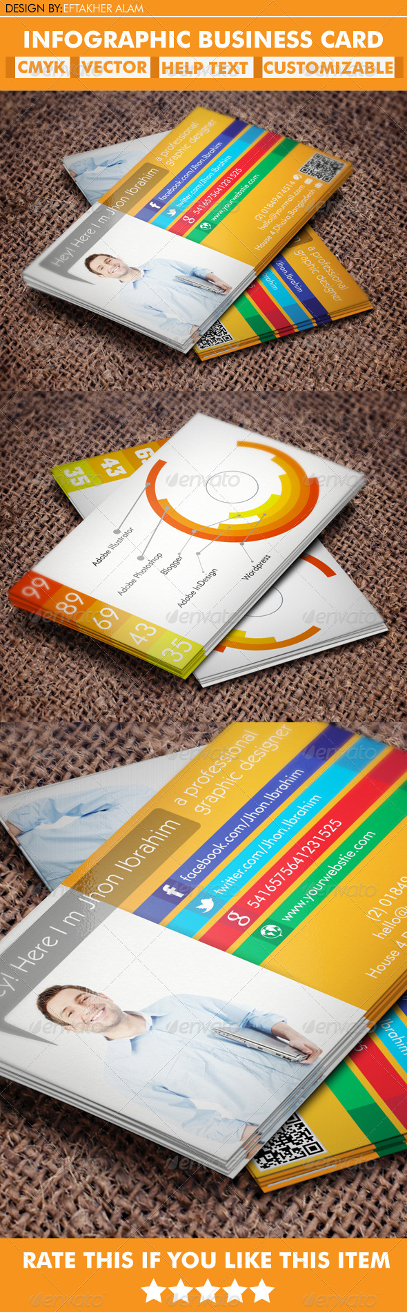 GraphicRiver Infographic Business Card 5324780