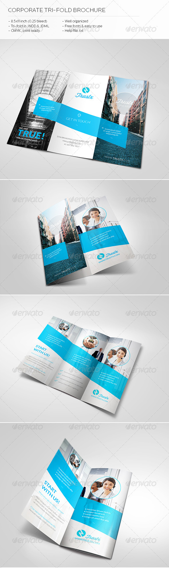 GraphicRiver Trustx Corporate Tri-fold Brochure 5434572