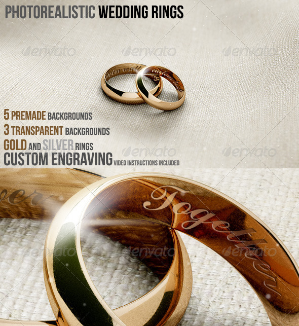 GraphicRiver Photorealistic Wedding Rings 5401486
