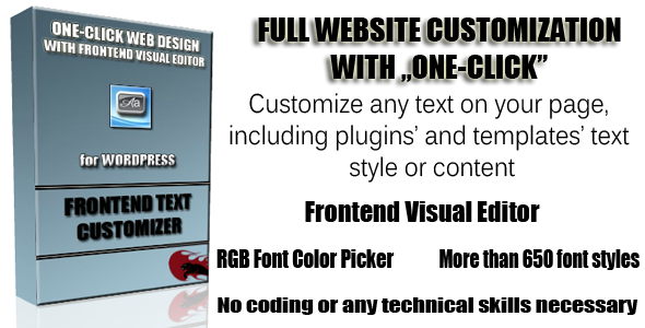 CodeCanyon Frontend Text Customizer for Wordpress 5434639
