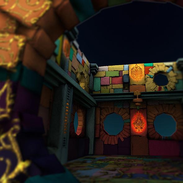 3DOcean Low Poly Hobbit Room 5434653