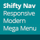 Shifty Nav - a Fully Responsive JS CSS3 Mega Menu - CodeCanyon Item for Sale