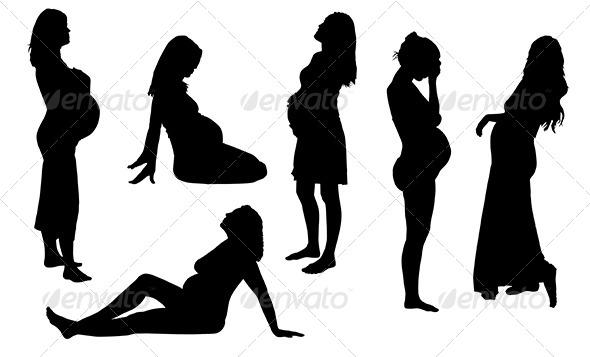 GraphicRiver Pregnant Woman Silhouette 5434931